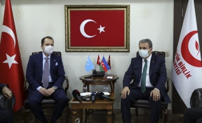 BBP Genel Başkanı Destici, Yeniden Refah Partisi Genel Başkanı Erbakan ile görüştü