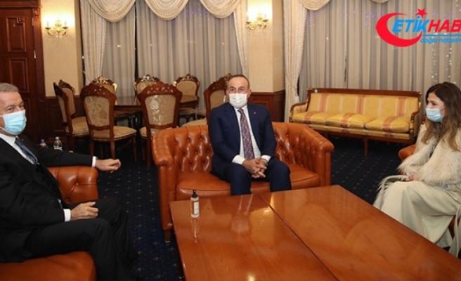 Dışişleri Bakanı Çavuşoğlu ve Milli Savunma Bakanı Akar Ukrayna'da