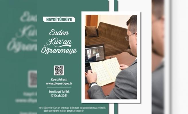Diyanet'ten uzaktan Kur'an-ı Kerim Öğretim Programı