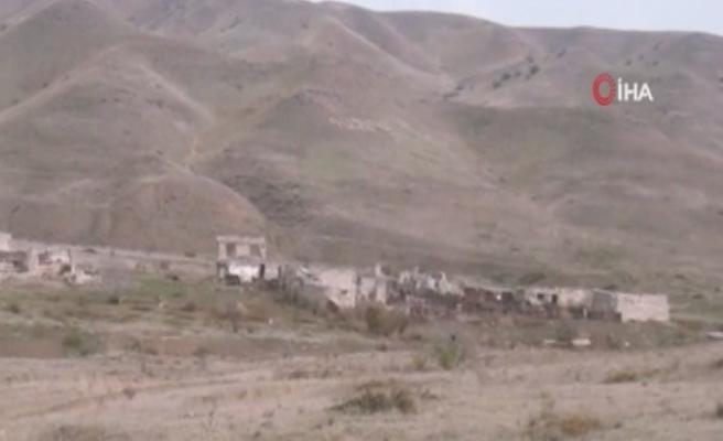 Ermenistan'ın işgalinden kurtarılan Emirvarlı ve Decal köyleri görüntülendi
