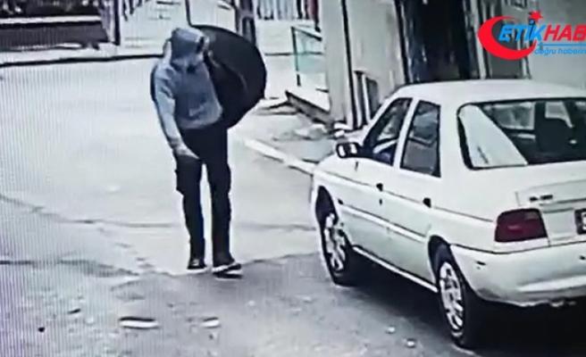 Isparta'da kazan hırsızlığı güvenlik kamerasında