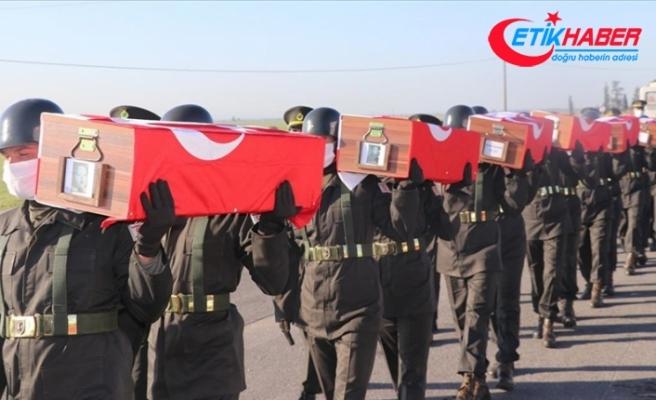 KKTC'de 14 şehit daha Muratağa Sandallar Şehitliği'ne defnedildi
