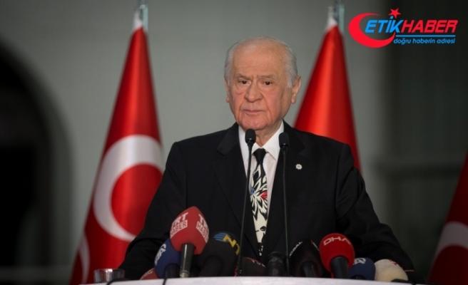 MHP Lideri Bahçeli: Uluslararası toplumun gözü önünde insanlık suçu işlenmektedir