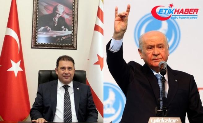 MHP Lideri Bahçeli'den KKTC Başbakanı Saner'e yeni yıl mesajı