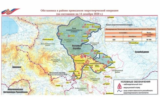Rusya'dan skandal Dağlık Karabağ haritası