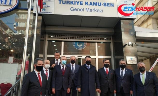 Tarım ve Orman Bakanı Pakdemirli Türkiye Kamu-Sen'e bağlı Türk Tarım-Orman Sen'i ziyaret etti