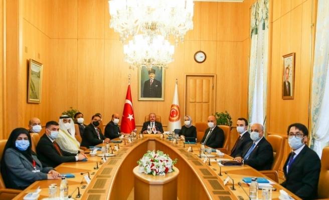 TBMM Başkanı Mustafa Şentop APA Başkanlık divanı üyelerini kabul etti