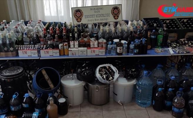 Trakya'da son bir haftada 6.5 ton sahte içki ele geçirildi