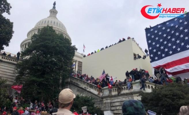 ABD Kongresi dışında Trump taraftarları ile polis arasında arbede yaşanıyor