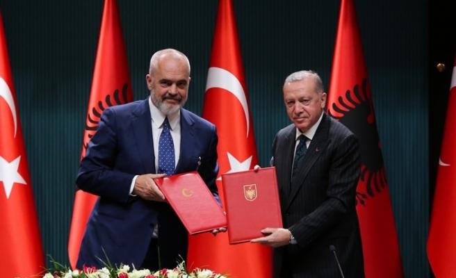Cumhurbaşkanı Erdoğan-Arnavutluk Başbakanı Rama ortak basın toplantısı