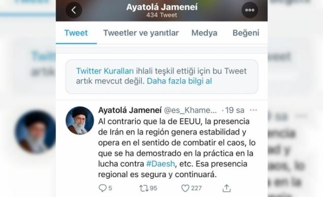 Twitter, korona virüs aşılarını güvensiz bulan Hamaney'in paylaşımlarını sildi