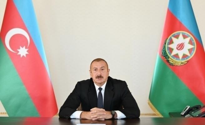 """Aliyev: """"Azerbaycan'ı Türkiye'ye bağlayan ikinci bir demiryolu ağı oluşturulacak"""""""