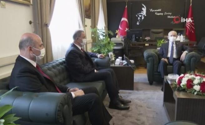 Bakan Akar ve Bakan Soylu, Kemal Kılıçdaroğlu'nu ziyaret etti