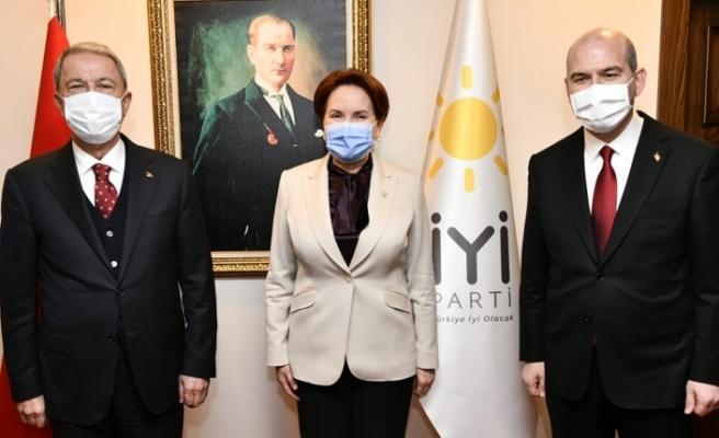 Bakan Soylu ve Akar'dan Akşener'e ziyaret