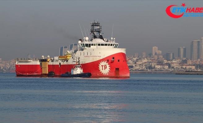 'Barbaros Hayrettin Paşa' sismik araştırma gemisi Tuzla Limanı'na geldi