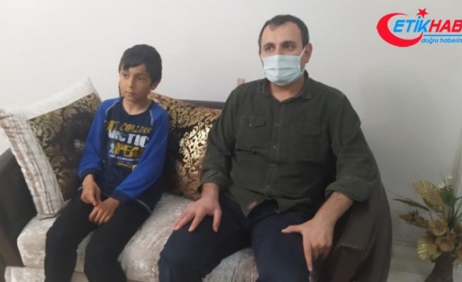 10 yaşındaki çocuğu tırmıkla yaraladı