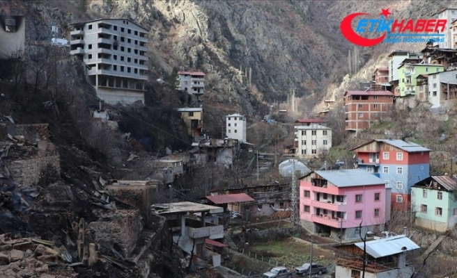 Artvin'in Dereiçi köyünde evleri yananlar için inşa edilecek konutların projesi hazırlandı
