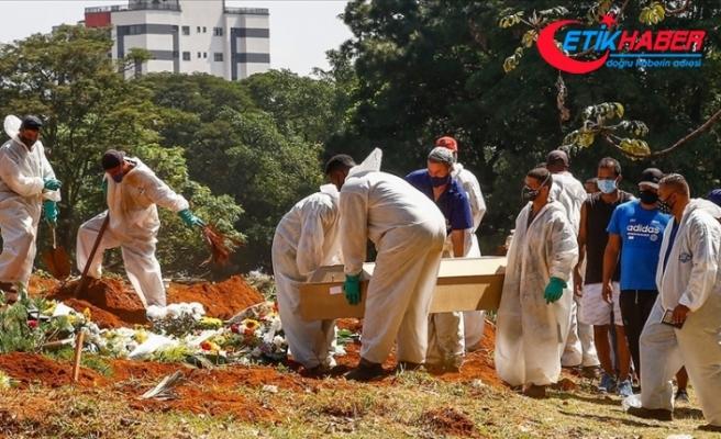 Brezilya'da son 24 saatte 3 bin 400'den fazla kişi Kovid-19 nedeniyle hayatını kaybetti