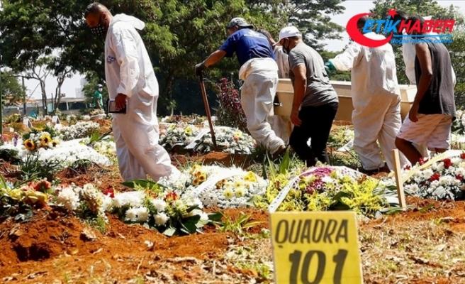 Brezilya'da son 24 saatte 3 bin 780 kişi Kovid-19 nedeniyle hayatını kaybetti