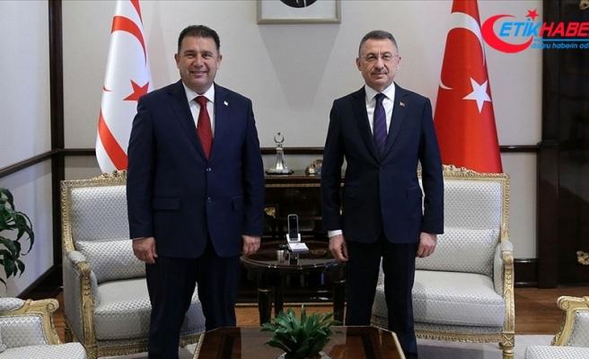 Cumhurbaşkanı Yardımcısı Oktay KKTC Başbakanı Saner ile görüştü