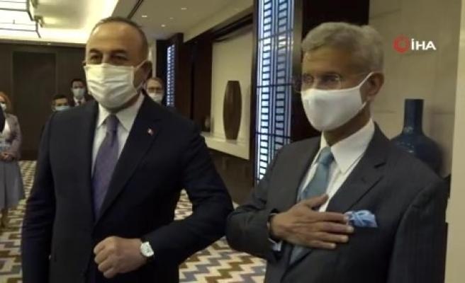Dışişleri Bakanı Çavuşoğlu, Hindistanlı mevkidaşı Jaishankar ile görüştü