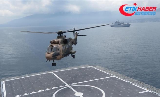 Çıkarma gemileri, Amfibi Deniz Piyade Tugayı ve Kara Kuvvetleri helikopterleriyle eğitimler yaptı