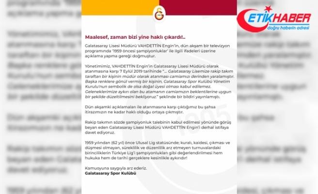 """Galatasaray'dan açıklama: """"Vahdettin Engin derhal istifa etmelidir"""""""