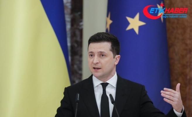 """Ukrayna Devlet Başkanı Zelenskiy: """"Donbass'taki savaşı bitirmek için tek yol NATO"""""""