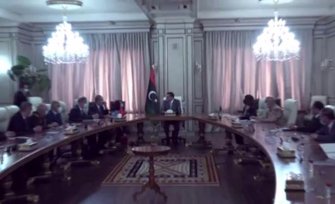 Bakan Akar, Çavuşoğlu ve Fidan, Libya Başbakanı Dibeybe ile görüştü