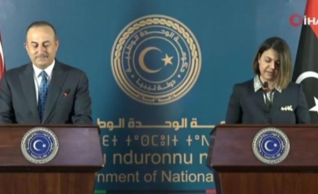 """Bakan Çavuşoğlu: """"Libya'ya sağladığımız destek iç savaş, kardeş kavgası ve insanlık dramını önledi"""""""