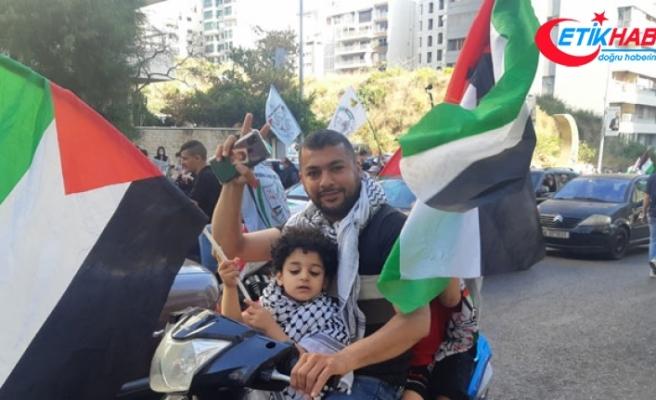Lübnan'da Filistin'e destek protestosu düzenlendi