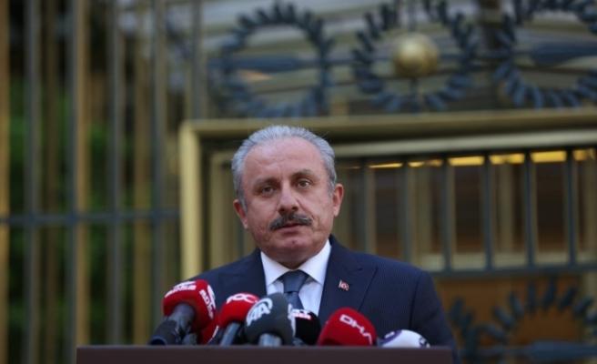 TBMM Başkanı Şentop, Irak Temsilciler Meclisi Başkanı Halbusi ile görüştü