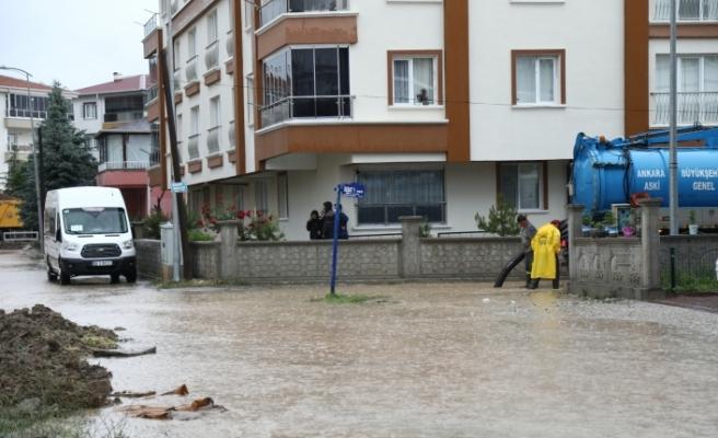 Çubuk'ta yağıştan tarım arazileri zarar gördü