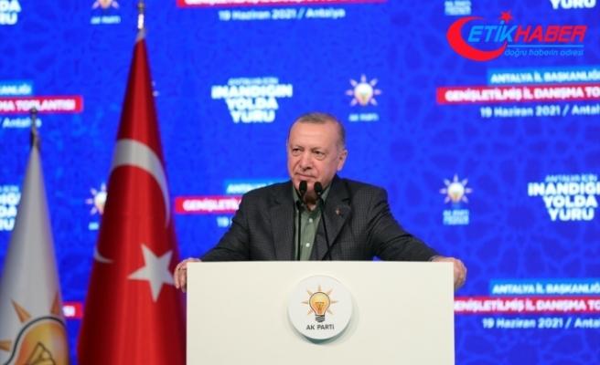 Cumhurbaşkanı Erdoğan: Dağdaki teröristlerle bir ve beraber olanlara milletimin yol vermesi mümkün değil