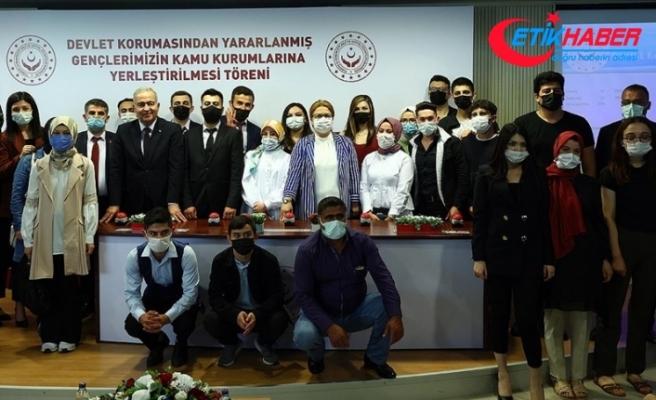 Devlet korumasındaki 890 gencin kamu kurum ve kuruluşlarına ataması yapıldı