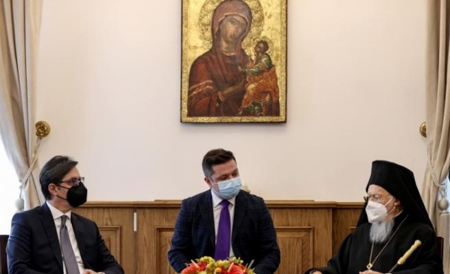 Kuzey Makedonya Cumhurbaşkanı Pendarovski'den Fener Rum Patriği Bartholomeos'a ziyaret