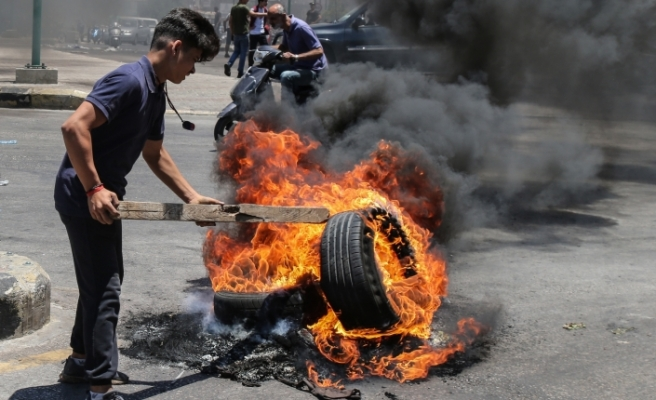 Lübnan'da Genel İşçi Sendikası'nın çağrısı üzerine greve gidildi