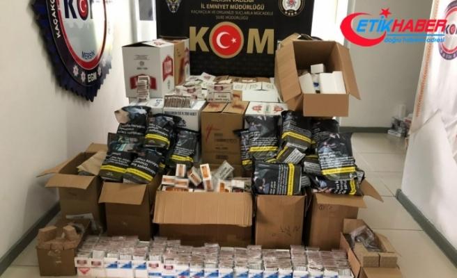 Mersin'de 3 milyon 310 bin bandrolsüz makaron ele geçirildi