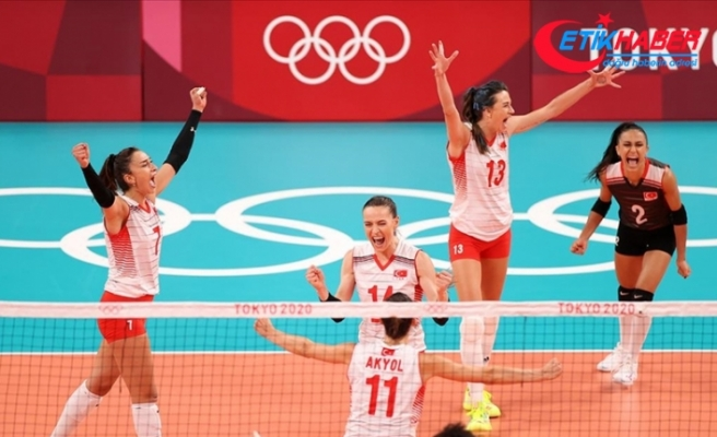 A Milli Kadın Voleybol Takımı olimpiyatlarda ilk kez çeyrek finale yükseldi