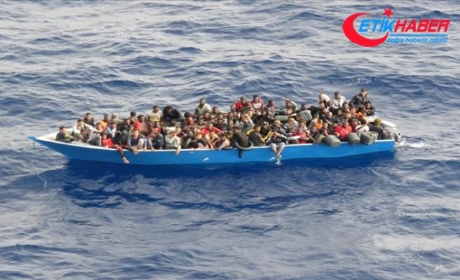 Akdeniz'deki 80 göçmen TCG Gediz Fırkateyni ile kurtarıldı