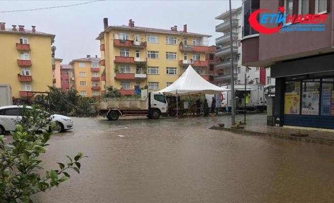 Arhavi'de sağanağın ardından iki mahalleyi su bastı