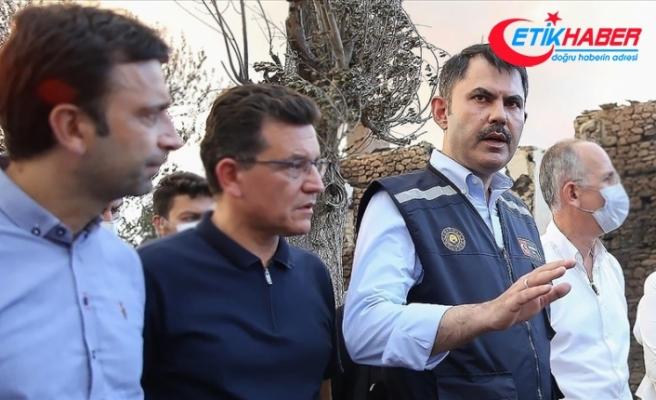 Çevre ve Şehircilik Bakanı Kurum: Yangında evleri hasar gören tüm vatandaşlarımızın evlerini yeniden yapacağız