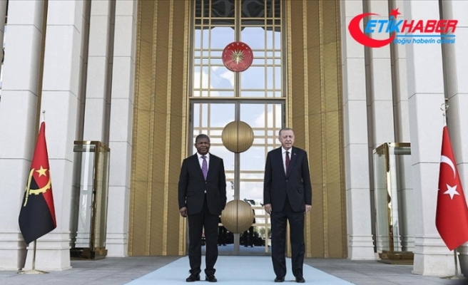Cumhurbaşkanı Erdoğan, Angola Cumhurbaşkanı Lourenço'yu resmi törenle karşıladı