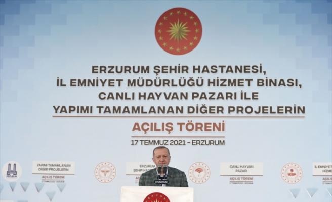 Cumhurbaşkanı Erdoğan: Asırlık sorunları birer birer çözdük mü? Çözdük