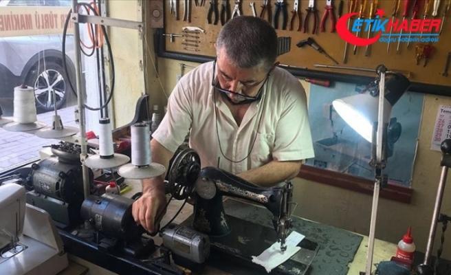 Eski dikiş makineleri Kazım ustanın elinde 'hayata' dönüyor