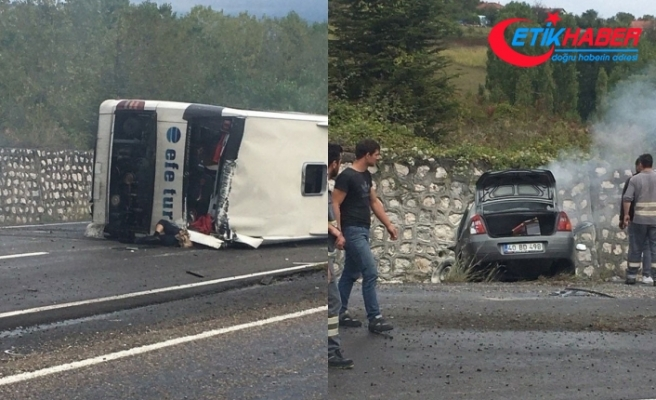 Bartın'da otomobil ile yolcu otobüsü çarpıştı! Ölü ve yaralılar var