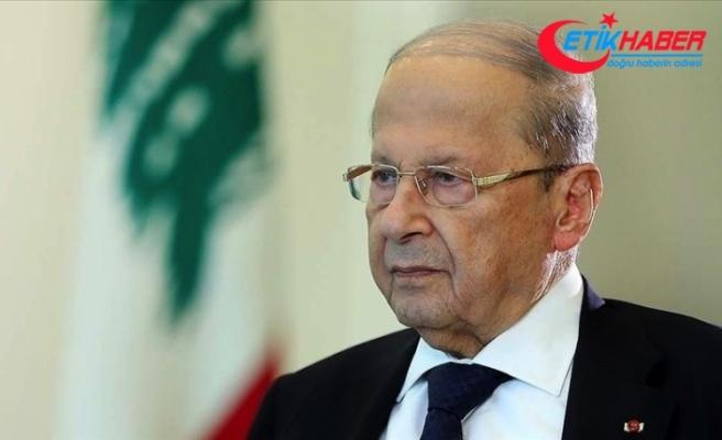 Lübnan Cumhurbaşkanı Avn, İsrail'in, Lübnan'la ihtilaflı olduğu deniz alanındaki gaz arama çalışmalarını kınadı