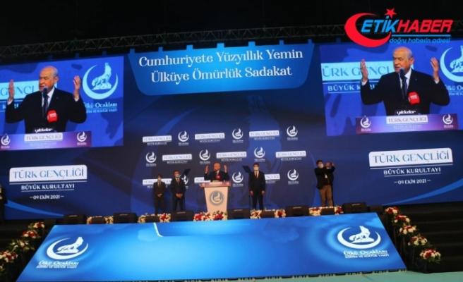 MHP Lideri Bahçeli: Kahrolsun şer odakları, çok yaşasın Ülkü Ocakları