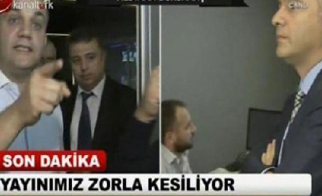 Kanaltürk ve Bugün TV'nin ana kumanda odasında tartışma