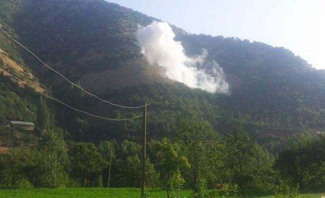 PKK'lı teröristler askeri üs bölgesine havanla saldırdı